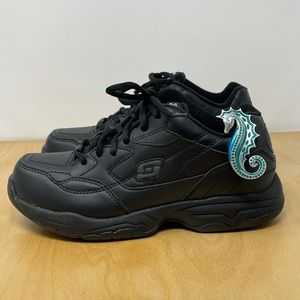 Skechers Relaxed Fit Wide Width Black Work Shoes 7